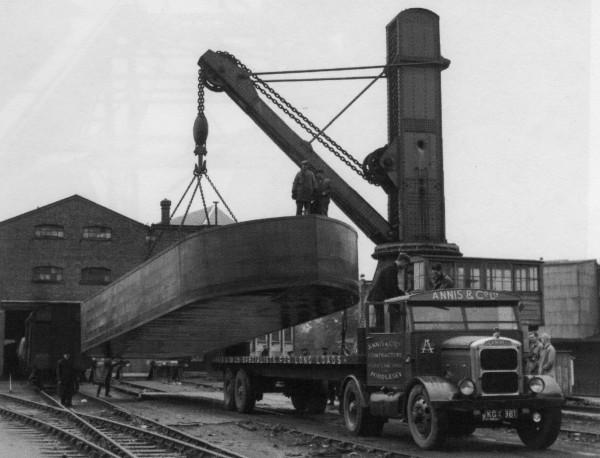 image loading barge