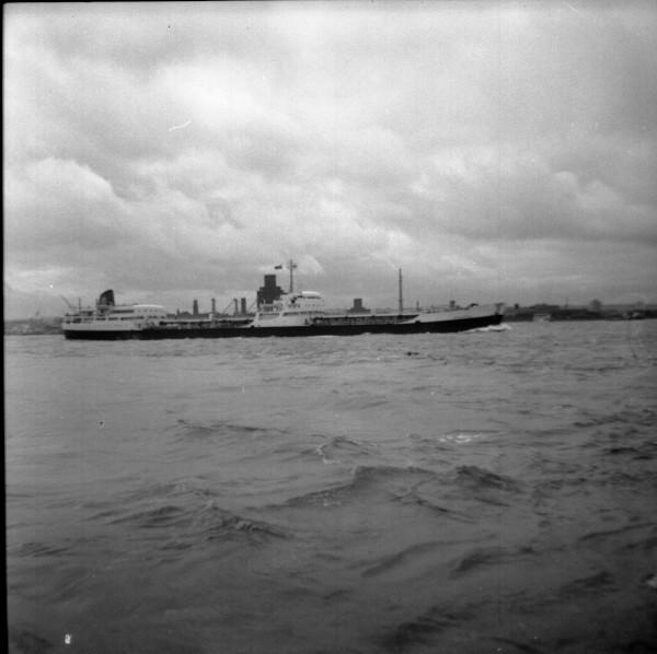 image 47 - shell 'a' class tanker passing pier head outward