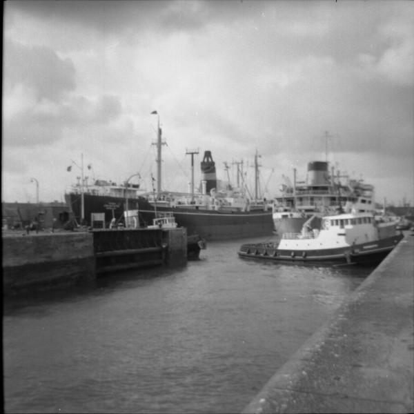 image 48 - 2 vessels in alfred half tide dock, birkenhead