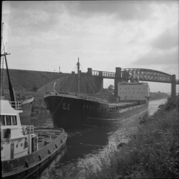 image 125 - 'oredian' (iron ore carrier) entering latchford locks bound for irlam steel works