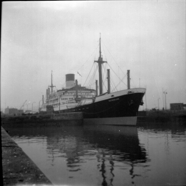 image 39 - 'patroclus'(blue funnel line) leaving alfred dock entrance inward